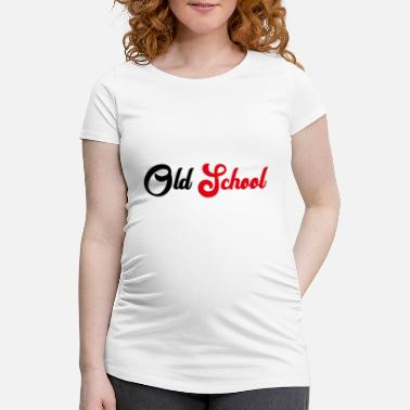 Old School Old School - T-shirt de grossesse