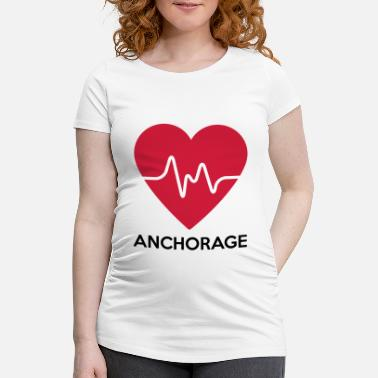 Anchorage Herz Anchorage - Schwangerschafts-T-Shirt