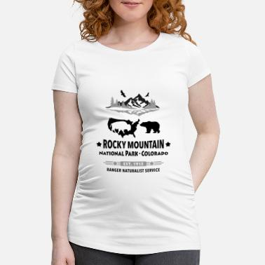 Rocky Mountain National Park Mountain Bison Grizzly Bear - Gravid-T-shirt dam
