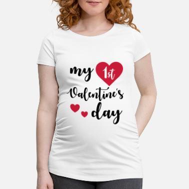 Day My 1st Valentines Day - T-shirt de grossesse