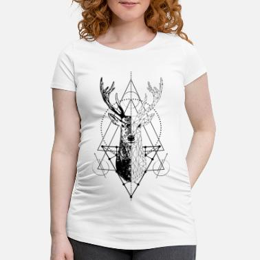 Stag Geometric stag - Maternity T-Shirt