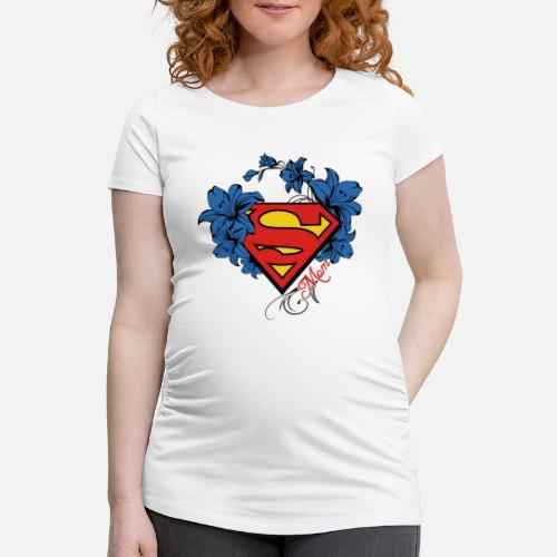 Superman Super Mom Flowers Red Schwangerschafts-T-Shirt   Spreadshirt bf7c27b8f0