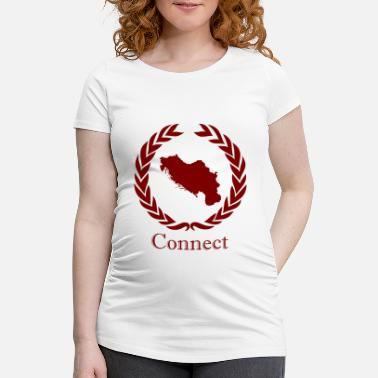 Connect CONNECT COLLECTION LMTD. RED EDITION - T-skjorte for gravide kvinner