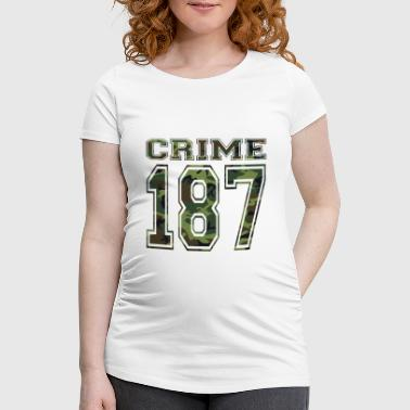 Clyde 187 crimestrasse Bonnie red weed weed - Women's Pregnancy T-Shirt