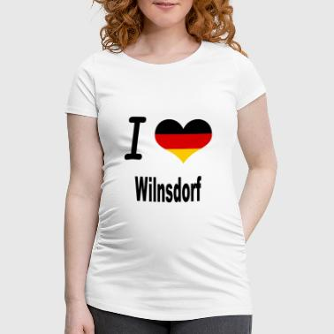 I Love Germany Home Wilnsdorf - Frauen Schwangerschafts-T-Shirt