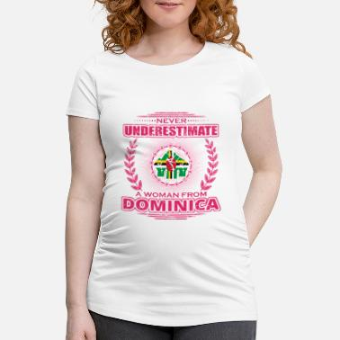 Dominica Never Underestimate Woman Ms. DOMINICA png - Women's Pregnancy T-Shirt