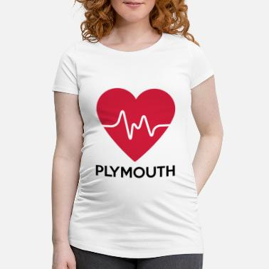 Plymouth coeur Plymouth - T-shirt de grossesse