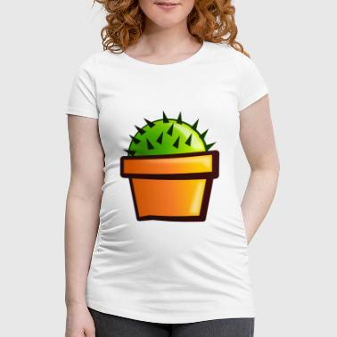 Piken Little green cactus - Women's Pregnancy T-Shirt