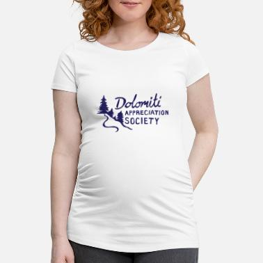 Dolomiti Dolomite Appreciation hand drawn - Women's Pregnancy T-Shirt