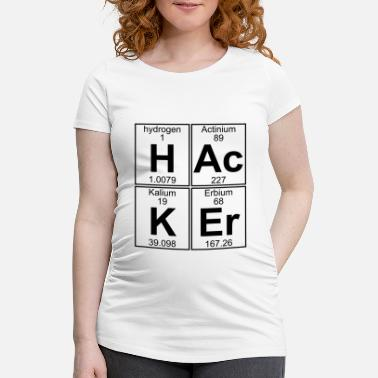 Hacker H-Ac-K-Er (hacker) - Full - T-shirt de grossesse