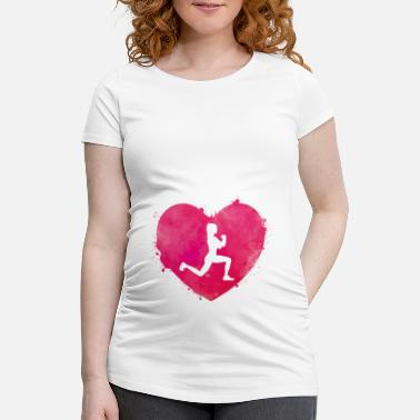 Womens Sport Women sports heart - Maternity T-Shirt