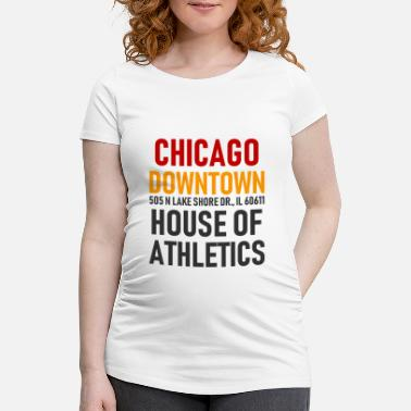 Windy City Chicago Downtown - Athletics House - Illinois - Gravid-T-shirt dam