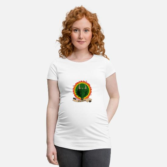 Salamander T-Shirts - For Nocturne - Maternity T-Shirt white