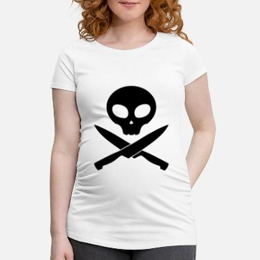 Smutje kitchen skull pirate, smutje - Maternity T-Shirt