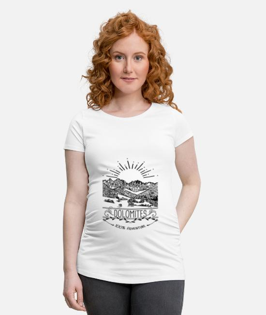 Mountains T-Shirts - Dolomites Alps Tyrol - Maternity T-Shirt white