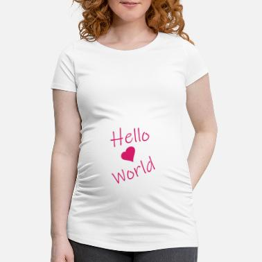 Kidz Hello world - Maternity T-Shirt
