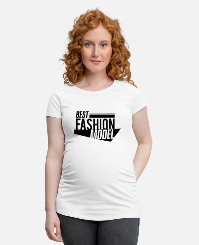 Supermodel T-Shirts - Fashion Topmodel Model Mode Modeln Catwalk - Schwangerschafts-T-Shirt Weiß
