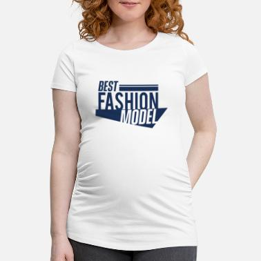 Model Topmodel Model Mode Model Topmodel Catwalk Modeln Modeln - Schwangerschafts-T-Shirt