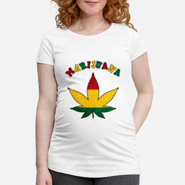 Cannabis cannabis cannabis cannabis cannabis cannabis chanvre haschich - T-shirt de grossesse