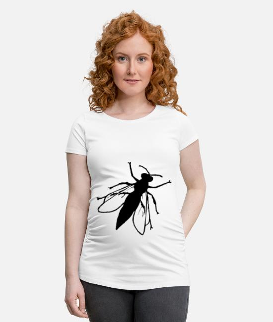 Wing T-Shirts - Silhouette - Maternity T-Shirt white