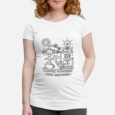 Coffee powered - black - Maternity T-Shirt