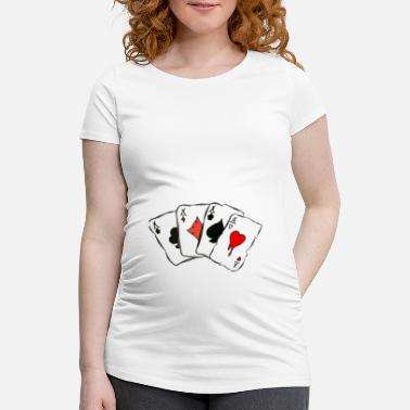 Cards cards - Maternity T-Shirt
