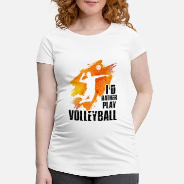 Beachvolleyball Volleyball Shirt Beachvolleyball Team Geschenkidee - Maglietta gravidanza da donna