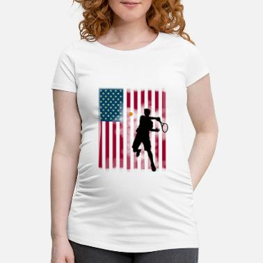 Us Open star tennis us open America flagg tibreak Player - Maternity T-Shirt