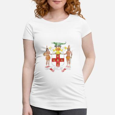 Suit Of Armor Jamaican Coat of Arms Jamaica Symbol - Gravid-T-shirt dam