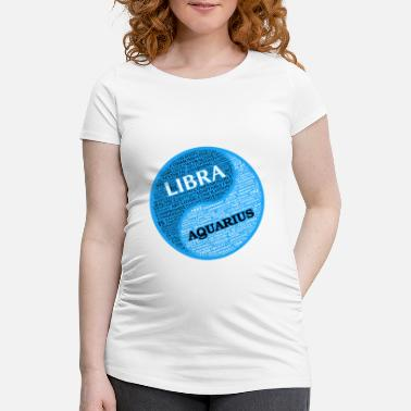 Aquarius Libra Libra and Aquarius Zodiac Sign Man Love Mug - Women's Pregnancy T-Shirt