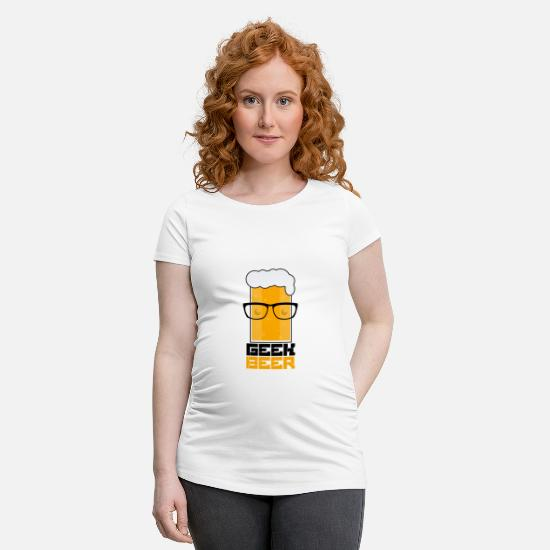 Gift Idea T-Shirts - Geek beer - Maternity T-Shirt white