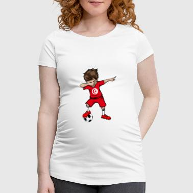 Tunisien Equipe nationale de Tunisie WM Dab football - T-shirt de grossesse Femme