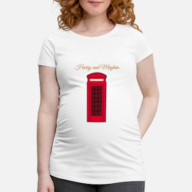 Phone Box Royal Wedding 2018 red phone boxes - Women's Pregnancy T-Shirt