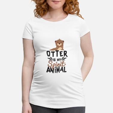 Spirit Otter er Min Ånd Animal Cute T-Shirt - Vente T-shirt
