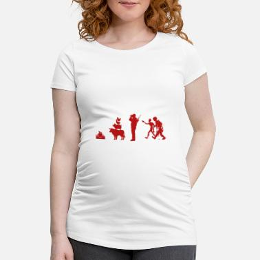 Zombie Evolution Evolution Zombies - Women's Pregnancy T-Shirt