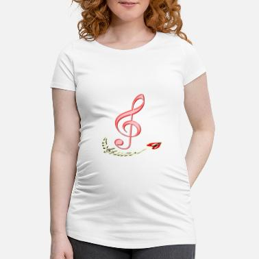 Note Musical Notes Violin Music Notes Music - Women's Pregnancy T-Shirt