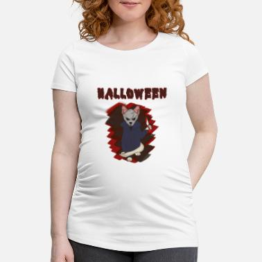 Michael Myers Halloween cat horror hangover knife meow gift - Women's Pregnancy T-Shirt