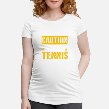 Fan De Tennis ATTENTION - fan de tennis - T-shirt de grossesse Femme