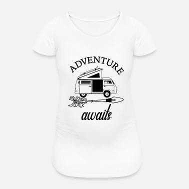 Adventure Awaits Travel Camping Rv Womens Premium T Shirt
