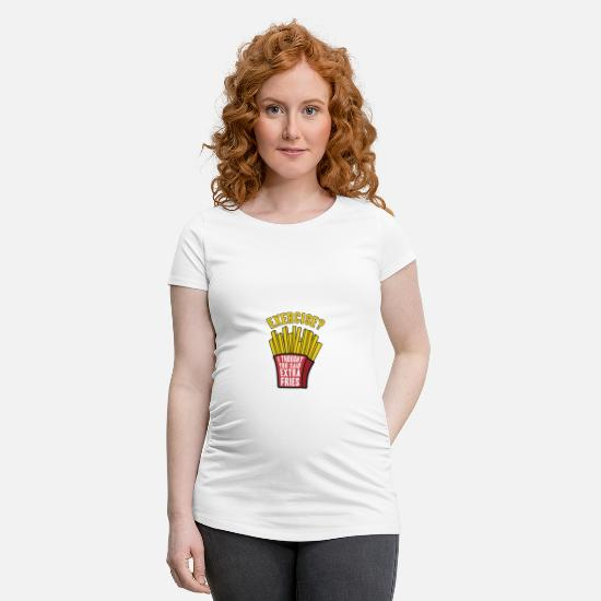 Stocking Stuffer T-Shirts - Exercise? - Maternity T-Shirt white
