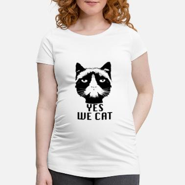 Cat Ja, vi Cat Obama Grumpy cat - Gravid T-shirt
