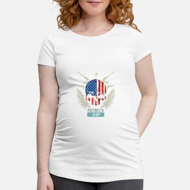 Patriot Patriotten USA Patriots Day - Zwangerschaps T-shirt