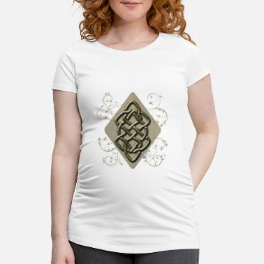 Wonderful decorative Celtic knot - Maternity T-Shirt