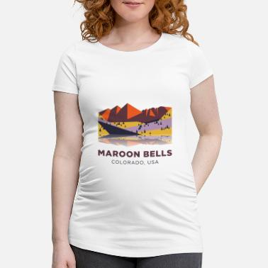 Maroon Maroon Bells - Colorado, USA - Maternity T-Shirt