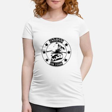 Camper on tour - gift idea for motorhome campers - Maternity T-Shirt