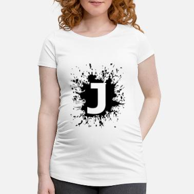 Name Naam, initialen, brief, team, J. - Zwangerschaps T-shirt