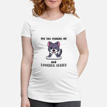 Paw Passions Cats and series watch - Maternity T-Shirt