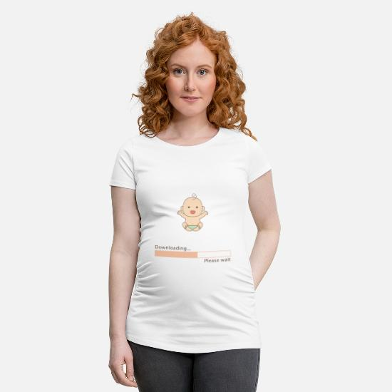 Pregnancy T-Shirts - Baby for download - Maternity T-Shirt white