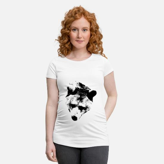Love T-Shirts - Bear, animal, zoo, paw, cuddle, predator, hunt - Maternity T-Shirt white