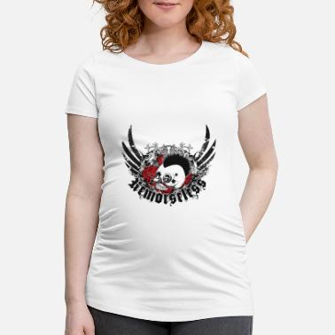 Rose Punk Skull and Roses - Maternity T-Shirt